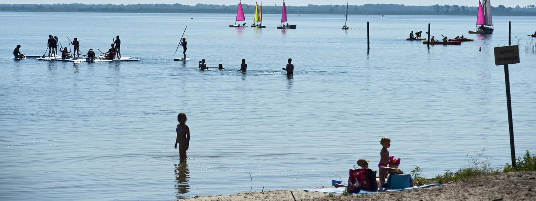 Camping au lac de carcans domaine de bombannes huttopia - Carcans maubuisson office de tourisme ...