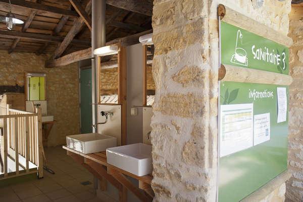 De sanitaire voorzieningen