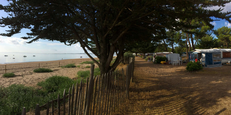 Beachfront pitch
