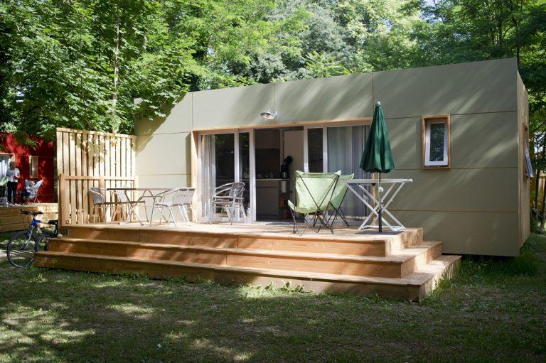 Accommodaties op de camping huttopia - Mezzanine accommodatie ...