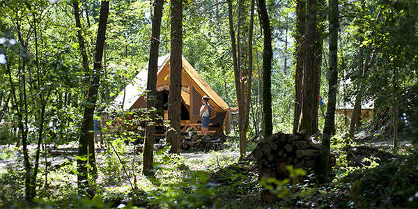 Discover our 33 nature campsites