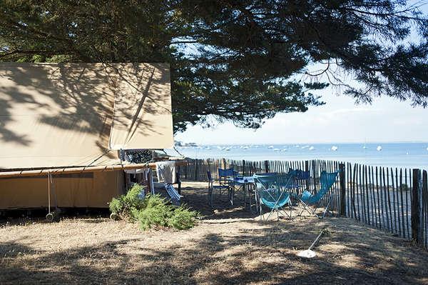 Tente Toile & Bois bord de mer