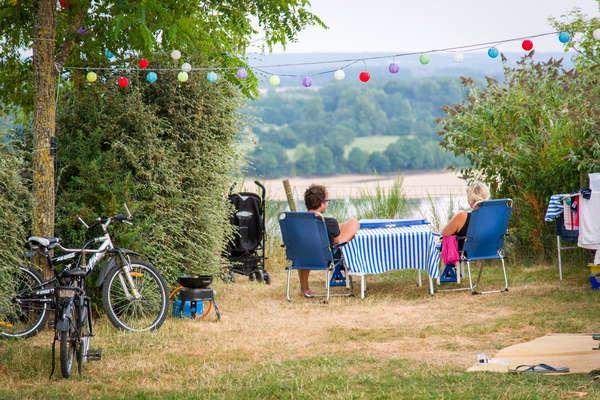 Staanplaats Uitzicht op Loire comfort
