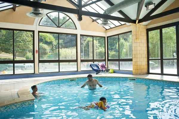 Campingplatz mit Schwimmbad in der Dordogne
