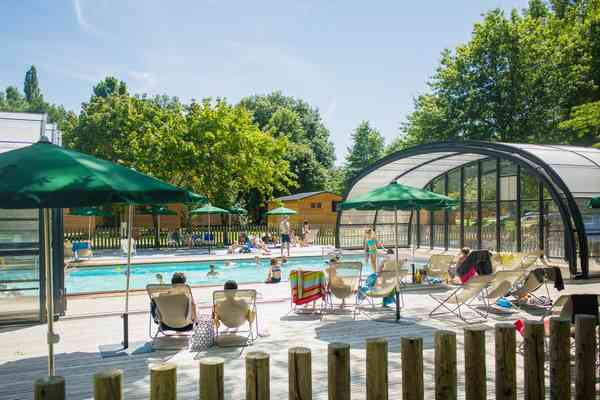 Campsite with Covered Swimming Pool in the Loire Valley