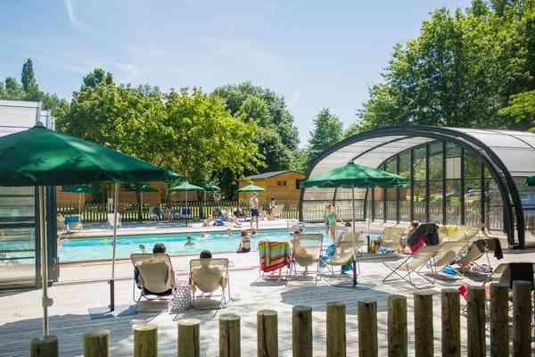 Campingplatz mit Schwimmbad in der Region Val de Loire