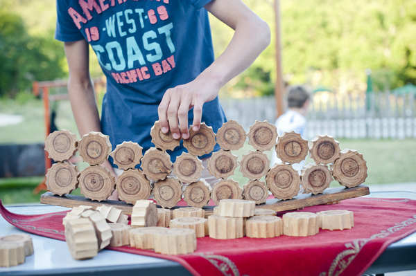 Giant wooden games