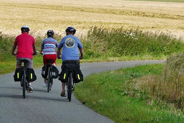 In bicicletta