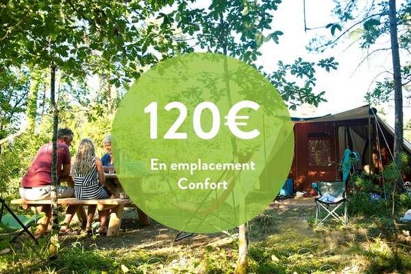 120€/semaine en emplacement Confort**