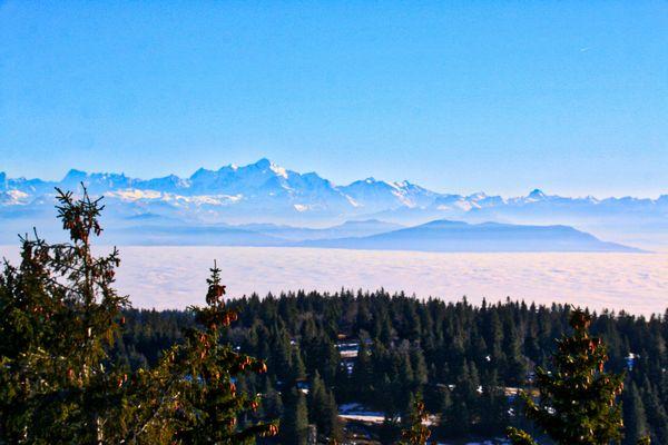 Enjoy breathtaking views of the mountain tops