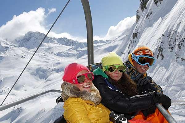 The nearby ski resorts