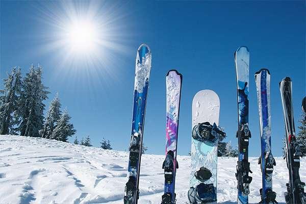 The ski resorts
